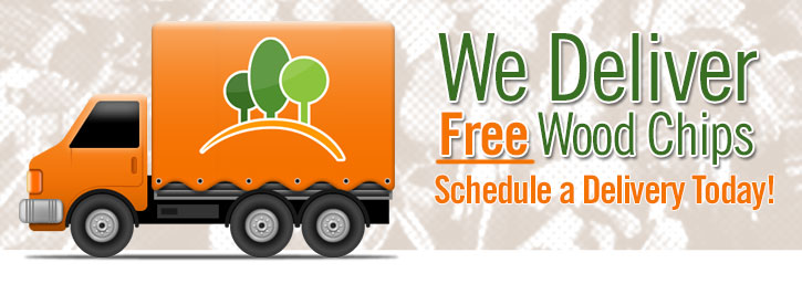 We offer free wood chips for your yard or garden.